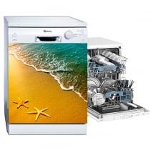 Decorative vinyl dishwasher sea stars