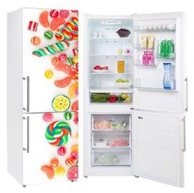 Decorative vinyl refrigerators sweets and candies