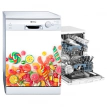 Decorative vinyl dishwasher sweets and candies