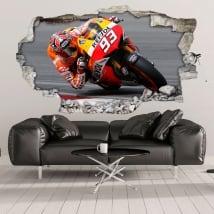 Decorative vinyl 3d motogp marc márquez honda