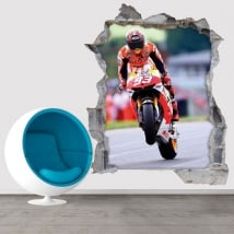 Vinyl and stickers 3d motogp marc márquez honda