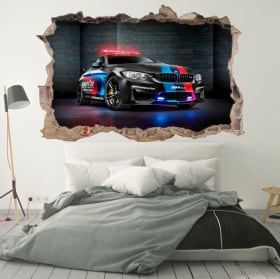 Decorative vinyl 3d motogp bmw m2 safety car