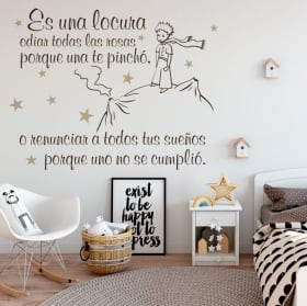 Decorative vinyl and stickers phrases the little prince
