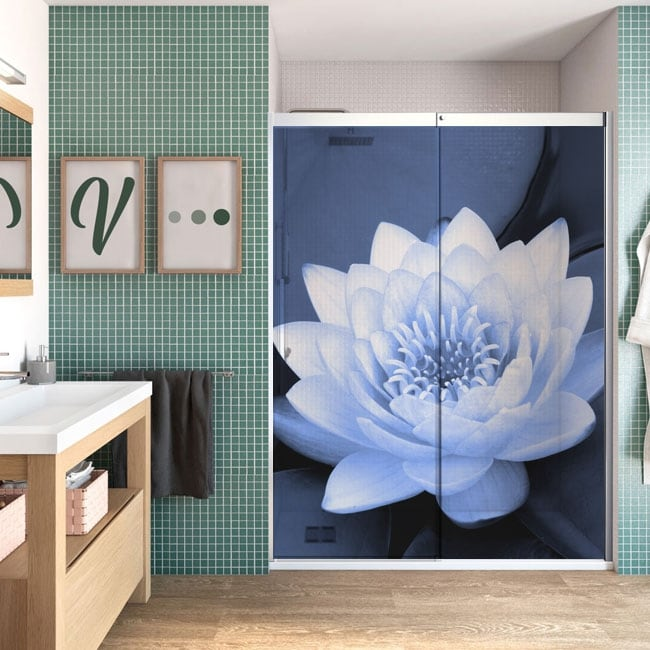 Vinyl for screens nymphaea flower or water lily