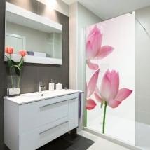 Vinyls screens baths lotus flowers