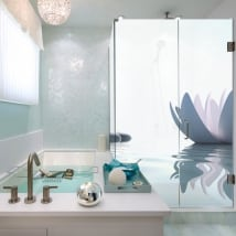 Vinyl bathroom screens zen style