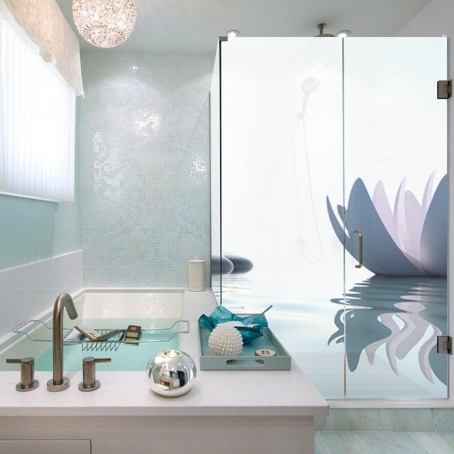 Vinyl bathroom screens zen style