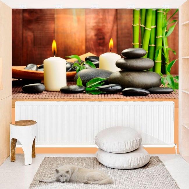 Adhesive murals zen style