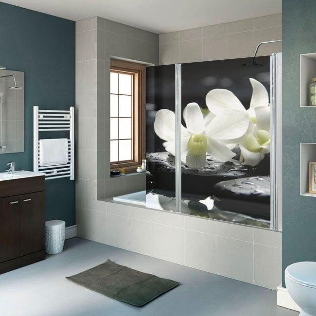 Vinyl and stickers shower screens zen