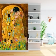 Wall murals gustav klimt artwork the kiss