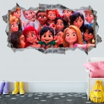 Stickers 3d disney princesses ralph breaks internet