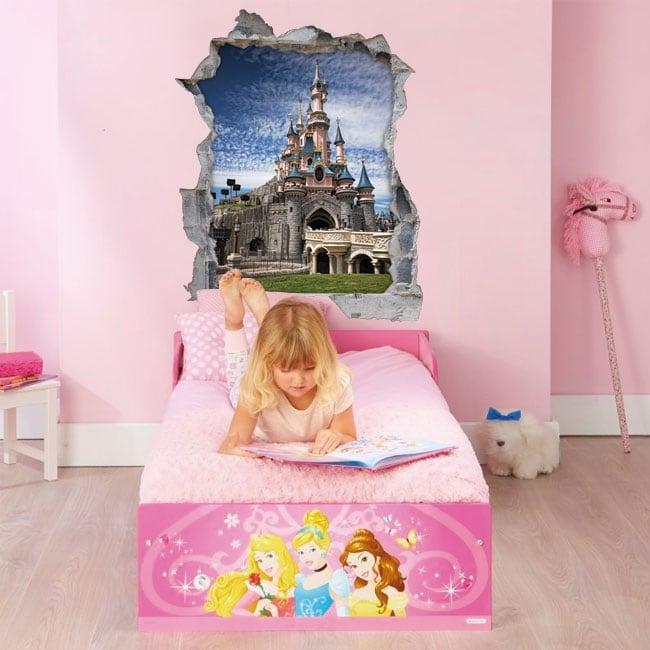 Vinyl walls 3d castle disneyland paris france