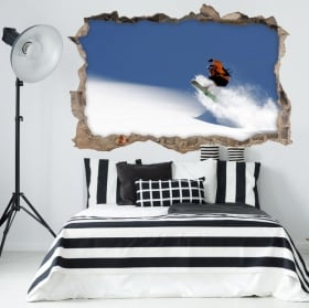Wall stickers 3d snowboard