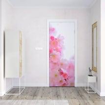Vinyl for doors japanese cherry blossom
