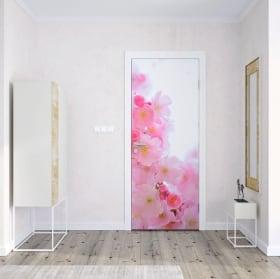 Vinyl for doors lotus flower
