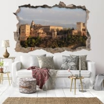 Adhesive vinyl 3d the alhambra of granada spain