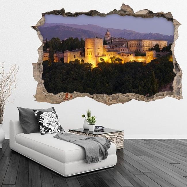 Vinyl 3d the alhambra city of granada spain