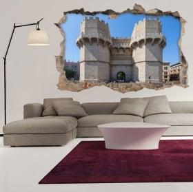 Vinyl 3d towers of serranos city of valencia