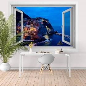 Vinyl windows 3d cinque terre la spezia italy