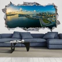 Decorative vinyl 3d panoramic of miami florida