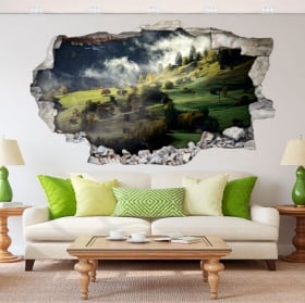 Wall stickers Swiss Alps 3D