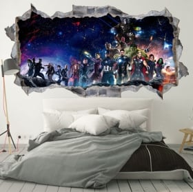 Wall stickers 3d the avengers infinity war