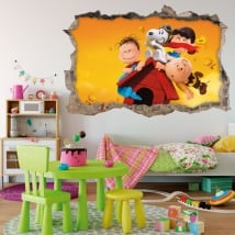 Decorative vinyl 3d the adventures of snoopy