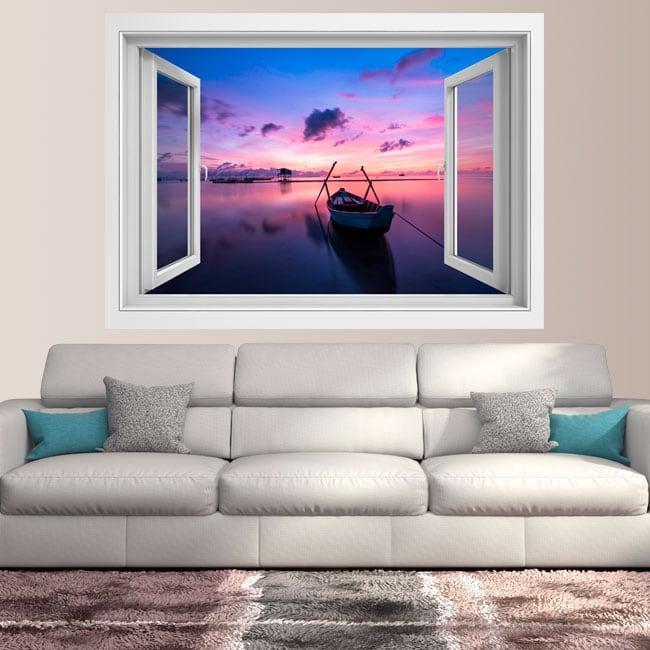 Vinyl 3d window sunrise island phu quoc vietnam