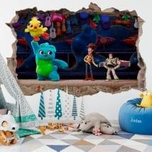 Children's vinyl 3d toy story 4