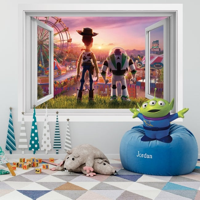 Vinyl walls 3d window toy story 4