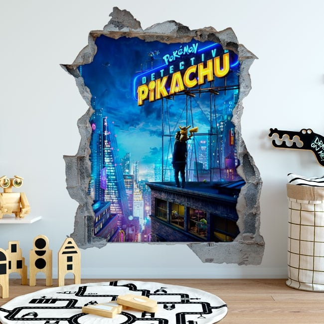 3d decorative stickers pokemon detective pikachu