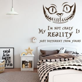 Vinyl cat alice in wonderland english phrase