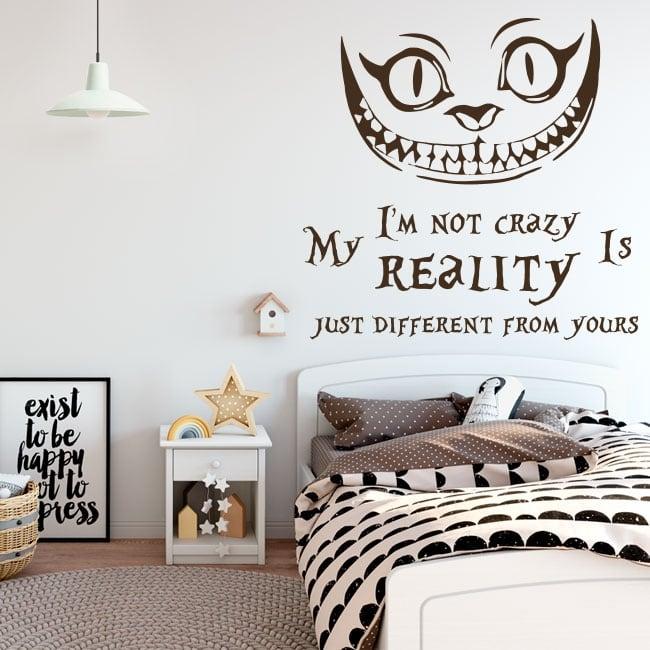 Vinyl cat alice in wonderland english phrase