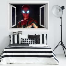 Vinyl window 3d spider-man far from home