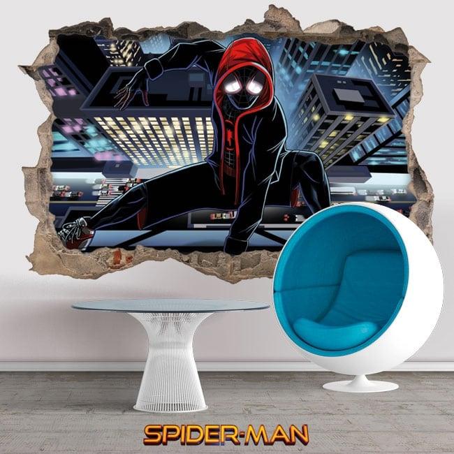 Vinyl and stickers 3d spider-man into spider-verse