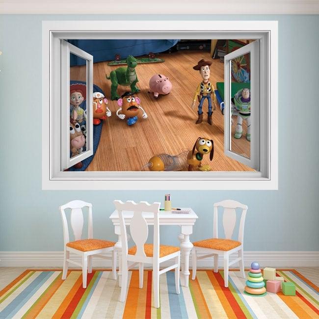 Children's vinyl 3d window toy story 4