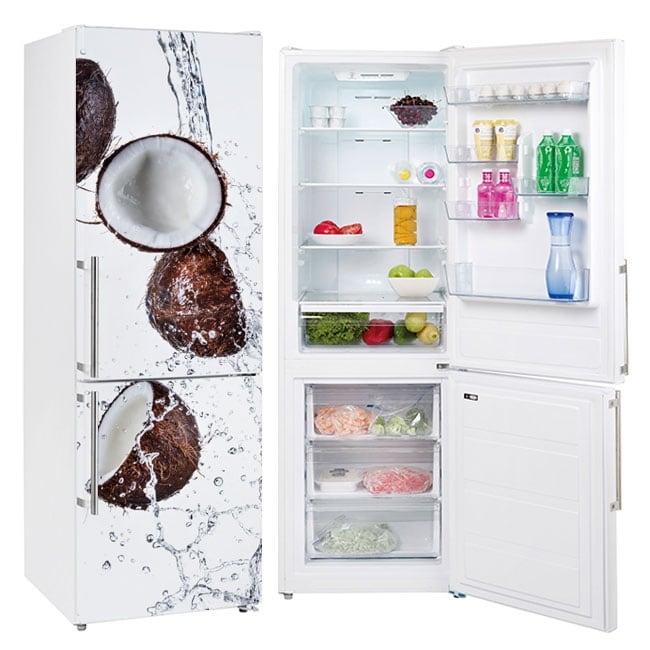Vinyls for refrigerators coconuts in the water
