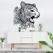 Vinyl and stickers tribal tiger head
