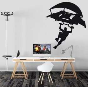 Vinyl and stickers video game fortnite hang glider or glider