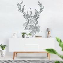 Stickers and vinyls tribal deer head