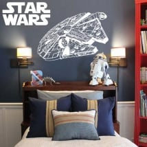 Vinyl stickers millenium falcon star wars