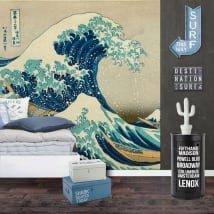 Vinyl wall murals tsunami or the big wave