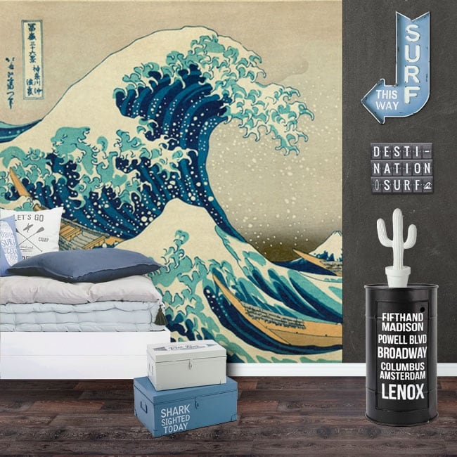 Vinyl wall murals tsunami or the big wave