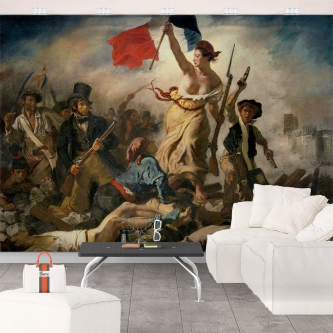 Wall murals eugène delacroix freedom guiding the people