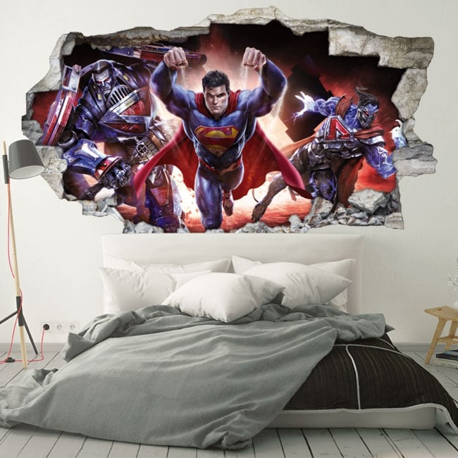 Vinyl wall 3d superman infinite crisis