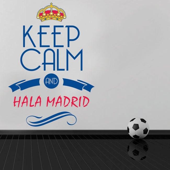 Decorative vinyl football keep calm and hala madrid
