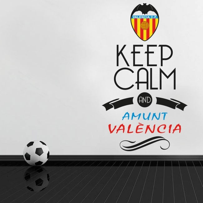 Vinyl stickers football keep calm and amunt valència