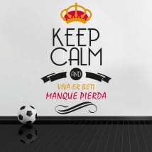 Stickers football keep calm and viva er beti manque pierda