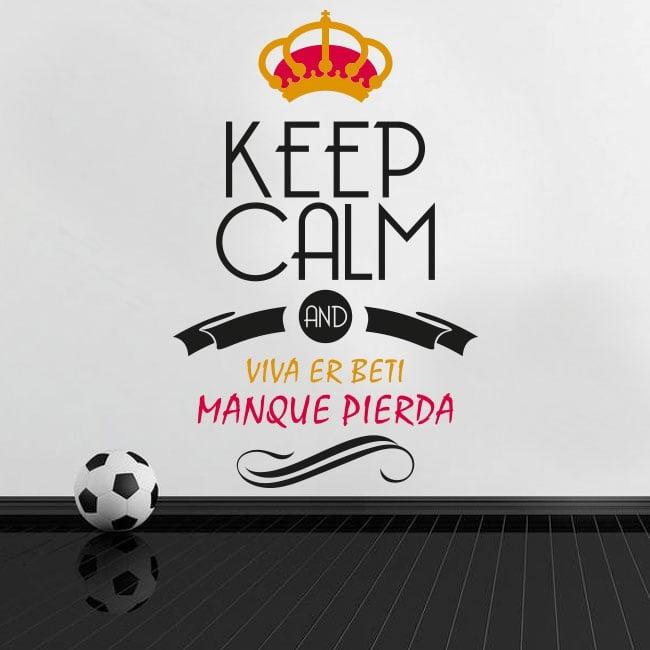 Stickers football keep calm and viva er beti manque pierda