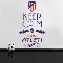 Vinyl stickers keep calm and aúpa atleti